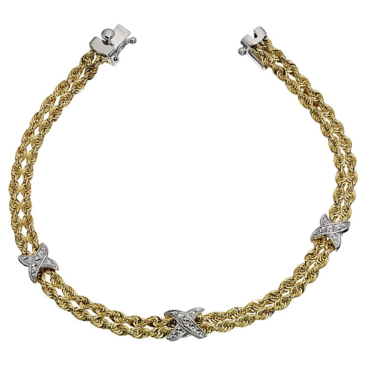 Together Bonded Silver & GoldKiss Rope Bracelet - Product number 9694021
