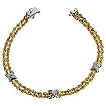 Together Bonded Silver & GoldKiss Rope Bracelet - Product number 9694021