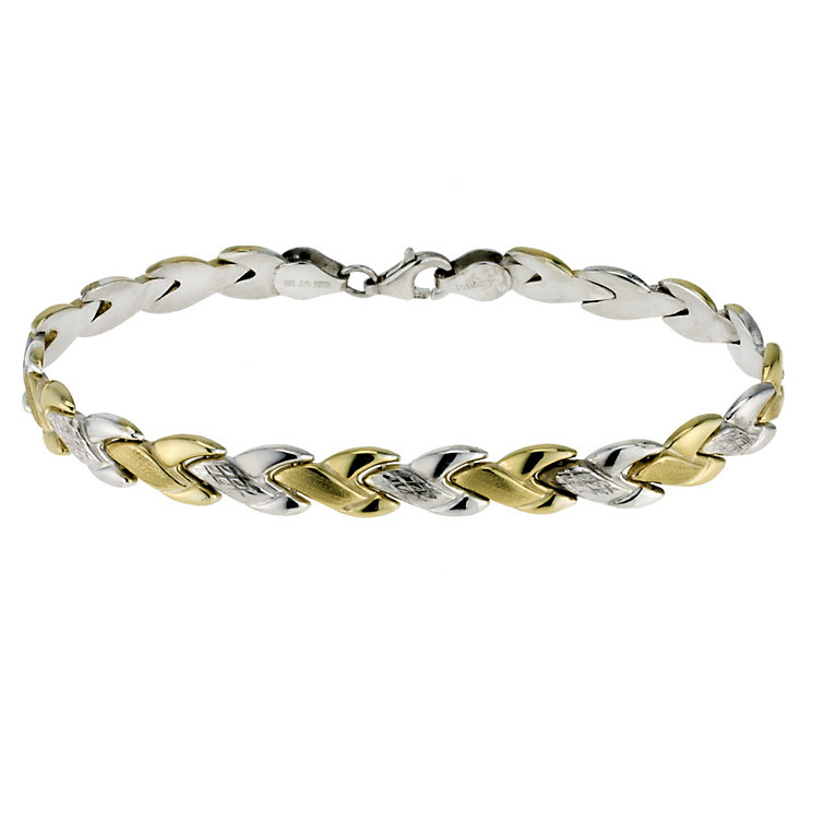 Together Bonded Silver & Gold Two Colour Bracelet - Product number 9694064
