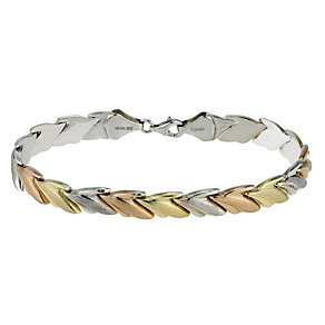 Together Bonded Silver & Gold Three Colour Bracelet - Product number 9694072