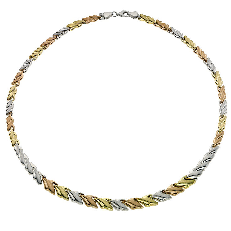 Together Bonded Silver & Gold Three Colour Collar Necklace - Product number 9694099