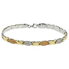 Together Bonded Silver & Gold Kiss Bracelet - Product number 9694145