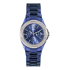 Guess Ladies' Crystal Blue Bracelet Watch - Product number 9695001