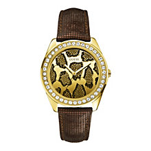 Guess Brown Strap Animal Watch - Product number 9695486