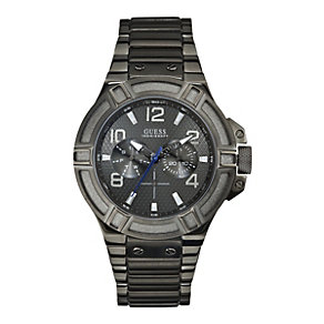 Guess Men's Grey Dial Gunmetal Grey Bracelet Watch - Product number 9695699