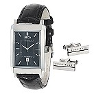 Hugo Boss men's black strap watch & cufflink set - Product number 9697969