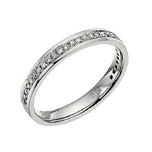 Palladium 950 diamond set 3mm ring - Product number 9700099