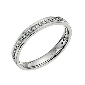 Palladium 950 diamond set 3mm ring - Product number 9700099