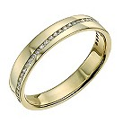 9ct gold diagonal diamond set ring - Product number 9701702