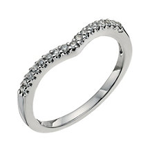 18ct white gold diamond bridal ring - Product number 9703217