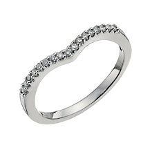 Platinum 0.15 ct diamond ring - Product number 9703357