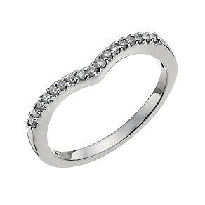 Platinum 0.15 ct diamond ring - Product number 9703357