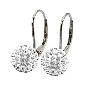 Tresor Paris Froidfond white crystal ball drop earrings - Product number 9703985
