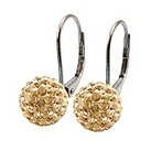 Tresor Paris Chablis gold crystal ball drop earrings - Product number 9703993