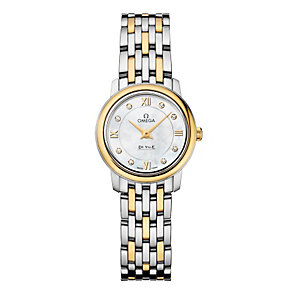 Omega De Ville ladies' two colour bracelet watch - Product number 9705201