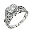 Neil Lane 14ct white gold two carat cushion cut diamond ring - Product number 9705279