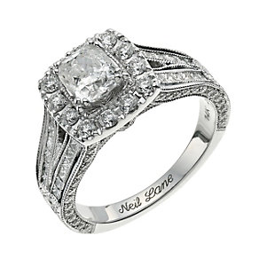 Neil Lane 14ct white gold 2.00ct cushion cut diamond ring - Product number 9705279