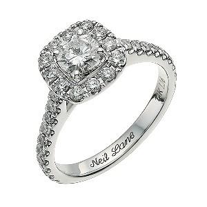neil lane 14ct white gold 116ct diamond cluster ring ernest jones - Neil Lane Wedding Rings