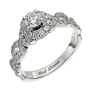Neil Lane 14ct white gold 0.98ct diamond cluster ring - Product number 9705678