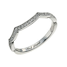 Neil Lane 14ct white gold 0.19ct shaped diamond band - Product number 9705791
