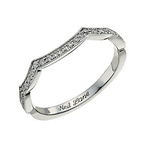 Neil Lane 14ct white gold 0.19ct shaped diamond ring - Product number 9705791