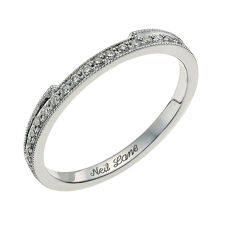 Neil Lane 14ct white gold 0.18ct round diamond band - Product number 9706062