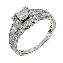 Neil Lane 14ct white gold 1.00ct diamond cluster ring - Product number 9706194