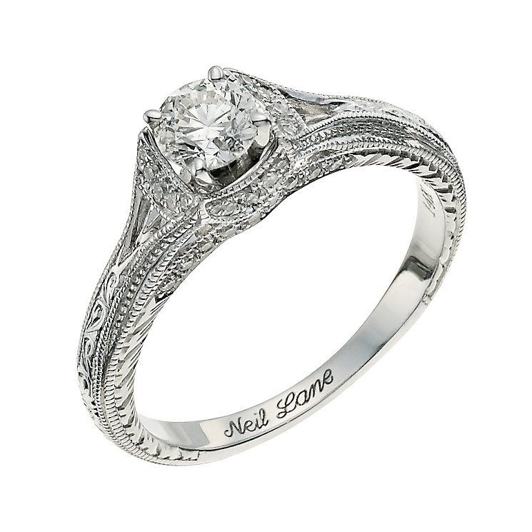 Neil Lane 14ct white gold 0.58ct round diamond ring - Product number 9706445