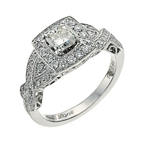 Neil Lane 14ct white gold 1.44ct diamond cluster ring - Product number 9706712
