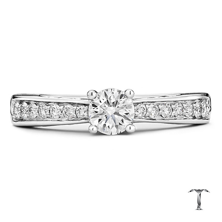 Tolkowsky 18ct white gold 0.50ct I-I1 diamond ring - Product number 9708286