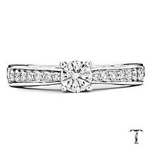 Tolkowsky 18ct white gold 0.50ct I-I1 diamond ring - Product number 9708286