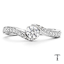 Tolkowsky 18ct white gold 0.50ct I-I1 diamond twist ring - Product number 9708405
