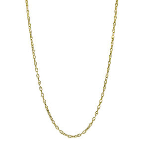 Together Bonded Silver & 9ct Gold Anchor Chain 20
