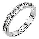 18ct white gold third carat diamond eternity ring - Product number 9709495