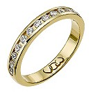 18ct gold third carat diamond channel set eternity ring - Product number 9709894