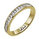18ct gold third carat baguette & round diamond channel ring - Product number 9710140