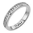 9ct white gold third carat baguette & round diamond ring - Product number 9710531