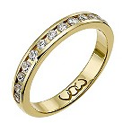 9ct gold third carat diamond channel set eternity ring - Product number 9710663