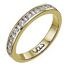 9ct gold third carat baguette & round channel diamond ring - Product number 9710930