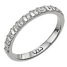 Palladium third carat diamond bar eternity ring - Product number 9711201