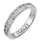 Palladium half carat diamond channel set eternity ring - Product number 9713441