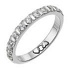 Palladium third carat diamond bar eternity ring - Product number 9713573