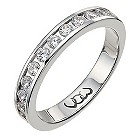 Platinum half carat diamond channel set eternity ring - Product number 9713840