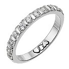 Platinum half carat diamond bar eternity ring - Product number 9713972