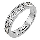 18ct white gold one carat diamond channel set eternity ring - Product number 9714235