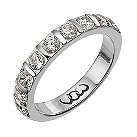 18ct white gold one carat diamond bar eternity ring - Product number 9714367