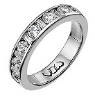 18ct white gold one carat baguette and round diamond ring - Product number 9714499