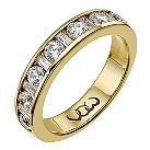 18ct gold one carat baguette and round diamond channel ring - Product number 9714936