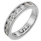 9ct white gold one carat diamond channel set eternity ring - Product number 9715053