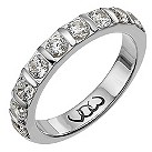 9ct white gold one carat diamond bar eternity ring - Product number 9715193